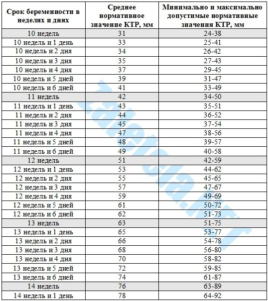 Рарр а при беременности норма по неделям таблица