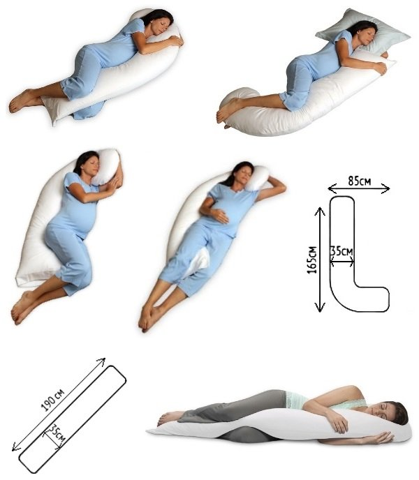 L и I-образные подушки для беременных