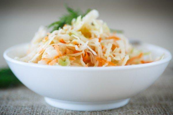 Квашенная капуста с морковью