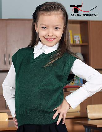 Трикотажные жилеты – лучшая школьная одежда для девочек