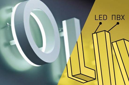 Реализация световых букв под заказ